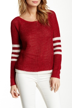 Zen - Contrast Stripes Linen Blend Sweater