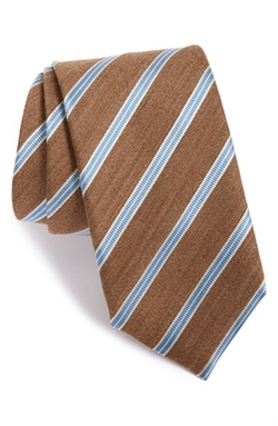 Eton - Stripe Silk & Wool Tie