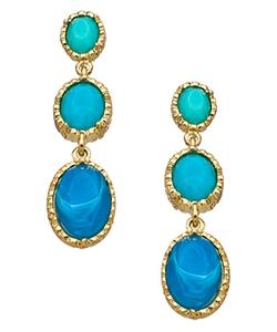 Blu Bijoux  - Three Drop Earrings