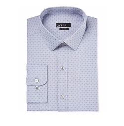 Bar III - Floral-Print Chambray Dress Shirt