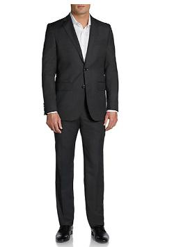Sak Fifth Avenue - Slim-Fit Striped Wool Suit