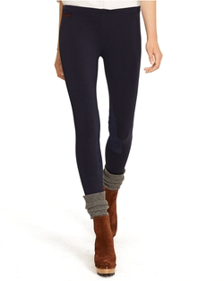 Ralph Lauren - Suede-Patch Jodhpur Legging Pants