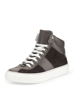 Jimmy Choo	  - Suede High-Top Sneakers
