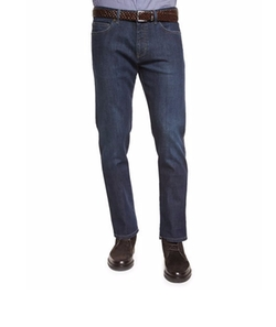 Ermenegildo Zegna  - Five-Pocket Stretch-Denim Jeans