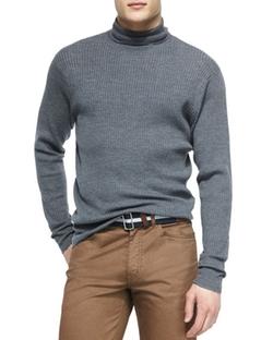 Peter Millar - Merino Wool Turtleneck Sweater