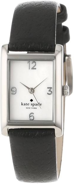 Kate Spade New York -  Leather Strap Stainless Cooper Watch