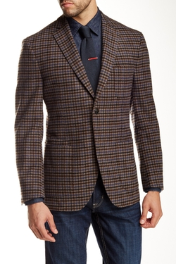 JKT New York English  - Check Wool Blend Sport Coat