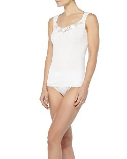 Hanro - Queens Guipure Lace-Inset Tank Top