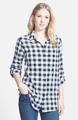 Michael Michael Kors - Roll Sleeve Check Plaid Shirt