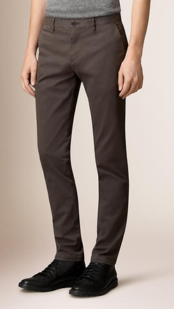 Burberry - Skinny Fit Cotton Twill Chino Pants