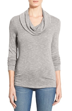 Caslon - Cowl Neck Long Sleeve Top