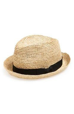 John Varvatos Star USA - Straw Fedora Hat