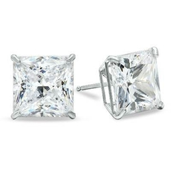 Stud Earrings - Square Basket Screw Earrings