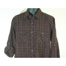 Alfani  - Long Sleeve Brushed Custer Plaid Shirt Size Large