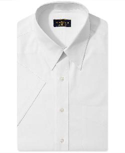 Club Room - Wrinkle Resistant Dress Shirt, Solid Short Sleeve Shirt