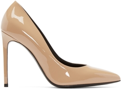 Saint Laurent - Beige Patent Paris Pumps
