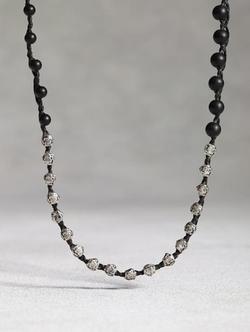 John Varvatos - Black Onyx Beaded Necklace
