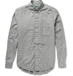 Gitman Vintage   - Button-Down Micro-Gingham Checked Cotton Shirt