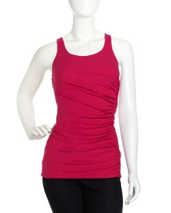 Isda & Co - Long Ruched Tank, Hot Pink