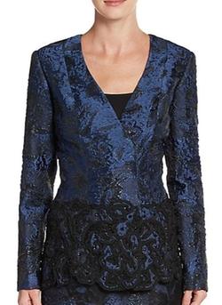 Oscar De La Renta - Embellished Lace Jacket
