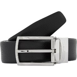 Ermenegildo Zegna -  Grained-Leather Belt