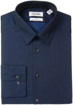 Calvin Klein - Non-Iron Herringbone Solid Shirt