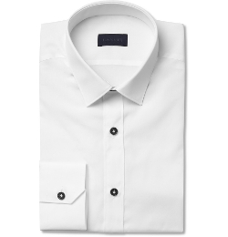 Lanvin - Slim-Fit Cotton Tuxedo Shirt