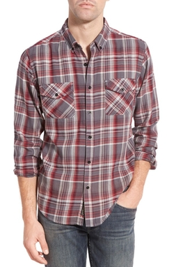 United By Blue  - Rothwell Plaid Regular Fit Organic Cotton Sport Shirt