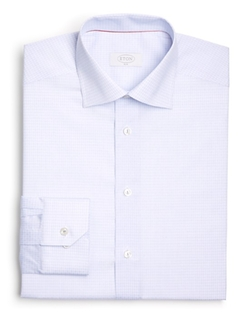 Eton of Sweden  - Grid Check Dobby Slim Fit Dress Shirt