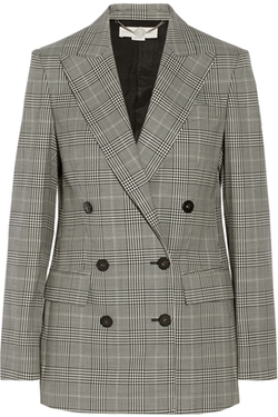 Stella McCartney - Check Double-Breasted Blazer