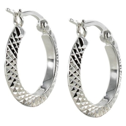 Target - Diamond Cut Small Hoop Earring