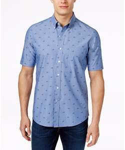 Club Room - Bicycle-Print Short-Sleeve Shirt