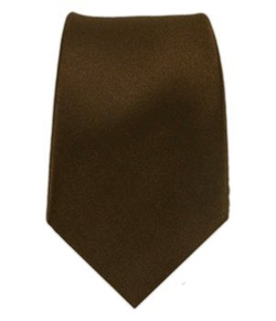 The Tie Bar - Silk Woven Chocolate Brown Solid Satin Tie