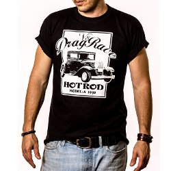 Makaya  - Rockabilly Hot Rod Drag Race T-Shirt