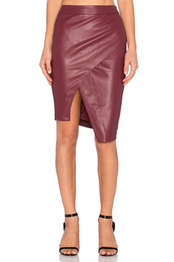 Blaque Label  - Asymmetrical Leather Skirt