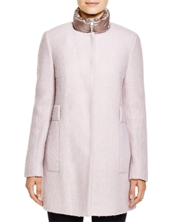 Calvin Klein  - Wool-Blend Coat with Puffer Inset