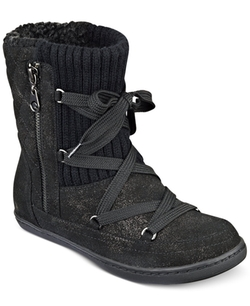 G by Guess - Roberta Lace-Up Sweater Booties