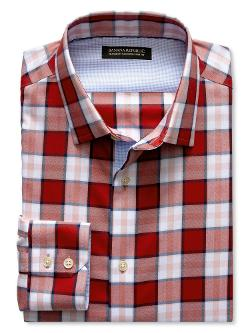 Banana Republic - Tailored Slim-Fit Saturated Plaid Shirt