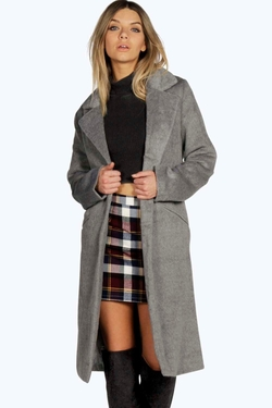 Boohoo Boutique - Allison Brushed Wool Look Coat