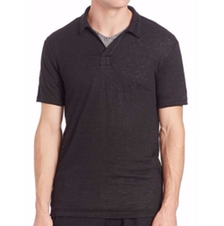 Vince  - Linen Jersey Short-Sleeve Polo Shirt