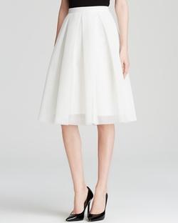 AQUA  - Mesh Neoprene Midi Skirt