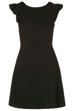 Topshop - Frill Sleeve A-Line Dress