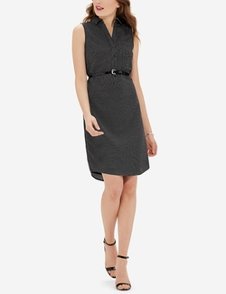 The Limited - Sleeveless Polka Dot Ashton Shirtdress