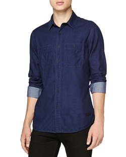 Burberry Brit - Double-Face Denim Pocket Shirt