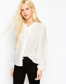 Asos Collection - Skinny Tie Pussy Bow Blouse