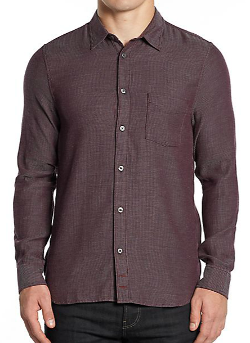 7 For All Mankind  - Pinstriped Cotton Button-Front Shirt