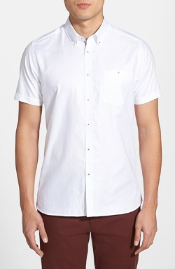 Ted Baker London - Short Sleeve Oxford Sport Shirt