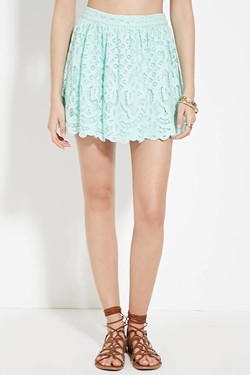 Forever21 - Pleated Lace Mini Skirt