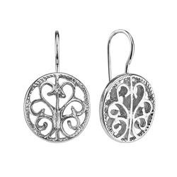 1928 - Filigree Circle Drop Earrings