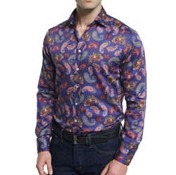Etro - Multi Paisley-Print Long-Sleeve Sport Shirt